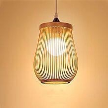 HJW Pendentif Lampe Creative Bamboo Chandeliers
