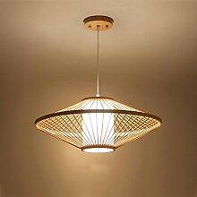HJW Pendentif Lights Creative Bamboo Chandeliers