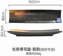 HJW Plaque de Sushi Plaque Rectangulaire
