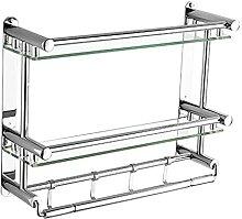 HLL Étagère en verre de salle de bains à 2