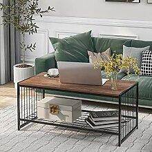HLOEC Table basse moderne rectangulaire en métal