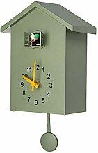 HLPIGF Moderne Oiseau Coucou Quartz Horloge Murale