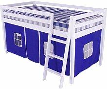 HLS Tente bleue pour lit mezzanine superposé