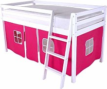 HLS Tente rose pour lit superposé