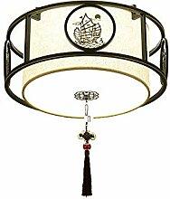 HLY Lampe de salon moderne, abat-jour en tissu