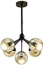 HLY Lampes de salon, 5 lumières Moderne s Boule