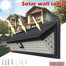 HMLIGHT Lampes solaires 118 LED de Mouvement