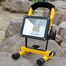 HMLIGHT Portable Rechargeable Projecteur 30W 24