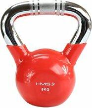 Hmsport - kettlebell fonte + vinyle 8kg 1 pièce