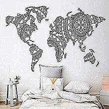 HNSYZS Sticker Mural Tatouage Mural Carte du Monde