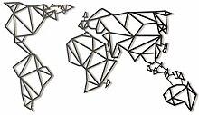 Hoagard World Map Black XL Metal Wall Art by,