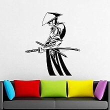 HOHHJFGG Stickers muraux samouraï et ninja