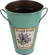 Holibanna Fleur en Métal Vase Antique Imprimé