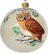 HolidayGiftShops Boule de Noël en Verre Hibou