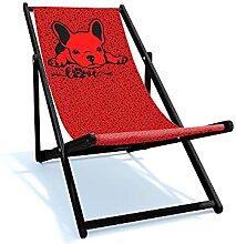 Holtaz Chaise longue pliante en bois - Chaise de