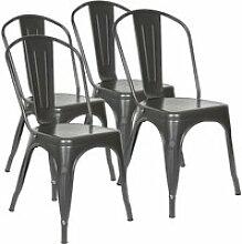 Hombuy®4 x chaise de salle à manger industriel