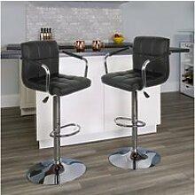 Hombuy®4pcs noir tabourets de bar chaise fauteuil