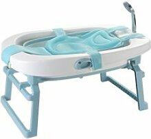 Hombuy baignoire bébé pliable bleu en pp + tpe