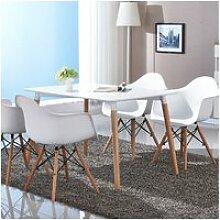 Hombuy® ensemble de table à manger rectangulaire
