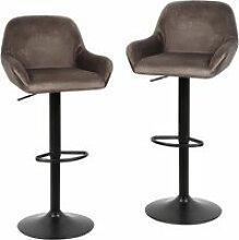 Hombuy®lot de 4 tabouret de bar marron chaises de