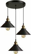 Hombuy® rétro 3 luminaires suspensions noir