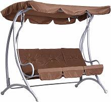 Homcom - Balancelle balancoire fauteuil de jardin