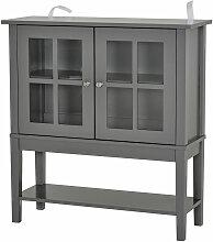 Homcom - Buffet commode armoire de rangement - 2