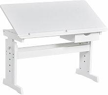 Homcom - Bureau enfant table à dessin pupitre