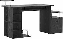Homcom - Bureau pour ordinateur table meuble pc