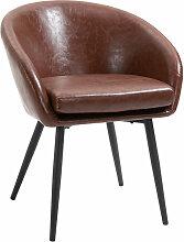 Homcom - Chaise de salon chaise de visiteur style