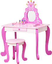 Homcom - Coiffeuse enfant design princesse -