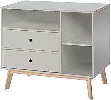 HOMCOM Commode 2 tiroirs 3 niches pour Enfant dim.