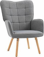 Homcom - Fauteuil relax style scandinave dossier