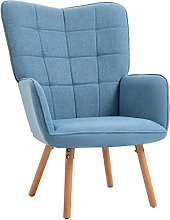 HOMCOM Fauteuil Relax Style scandinave Dossier