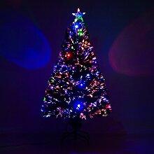 HOMCOM Sapin de Noël Artificiel Lumineux Fibre