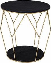 Homcom - Table basse ronde design style art déco