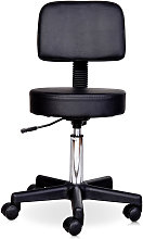 Homcom - Tabouret massage a roulettes reglable en