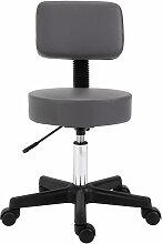 Homcom - Tabouret massage à roulettes réglable