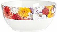 Home Bol pour céréales, décor Fleurs, 14cm,