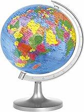 Home Carte du Monde Globe, Multicolore, 23x