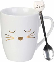 Home Deco Factory KA4189 Mug avec cuillère Chat