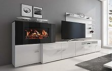 Home Innovation – Meuble de salon avec cheminée