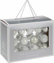 Home & Style 5062148 Boule de Noël, Weiß