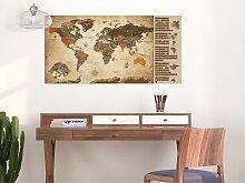 home24 Carte du monde à gratter vintage
