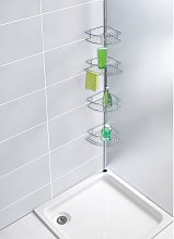 home24 Étagère de douche télescopique Dolcedo