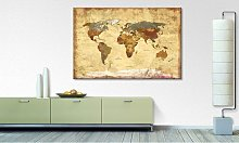 home24 Impression sur toile Old Worldmap 4