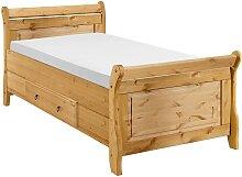 home24 Lit simple en bois massif Cenan
