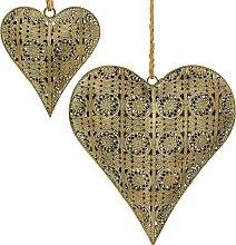 home24 Objet décoratif cœur (2 éléments)