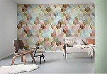 home24 Papier peint intissé Cubes