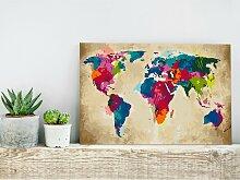 home24 Peinture par numéro - Carte du monde V